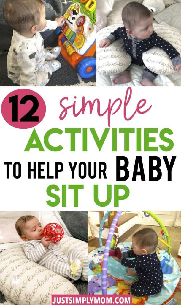 My baby was not sitting up on his own until I tried some of these activities suggested. An important milestone an infant will soon reach is sitting up independently. Here are several tips, activities, and positions to help baby sit up on their own and without assistance. Be consistent with providing them the opportunities to learn and they will do it.