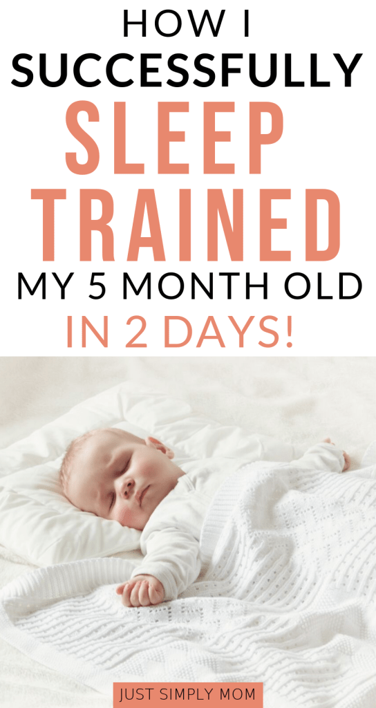 Sleep training can be the ultimate sanity-saving experience for a new mom. Get your baby sleeping through the night, or at least longer stretches day and night, with this simple method. It worked for us with by sleep training a 5 month old baby and it can work for you too.