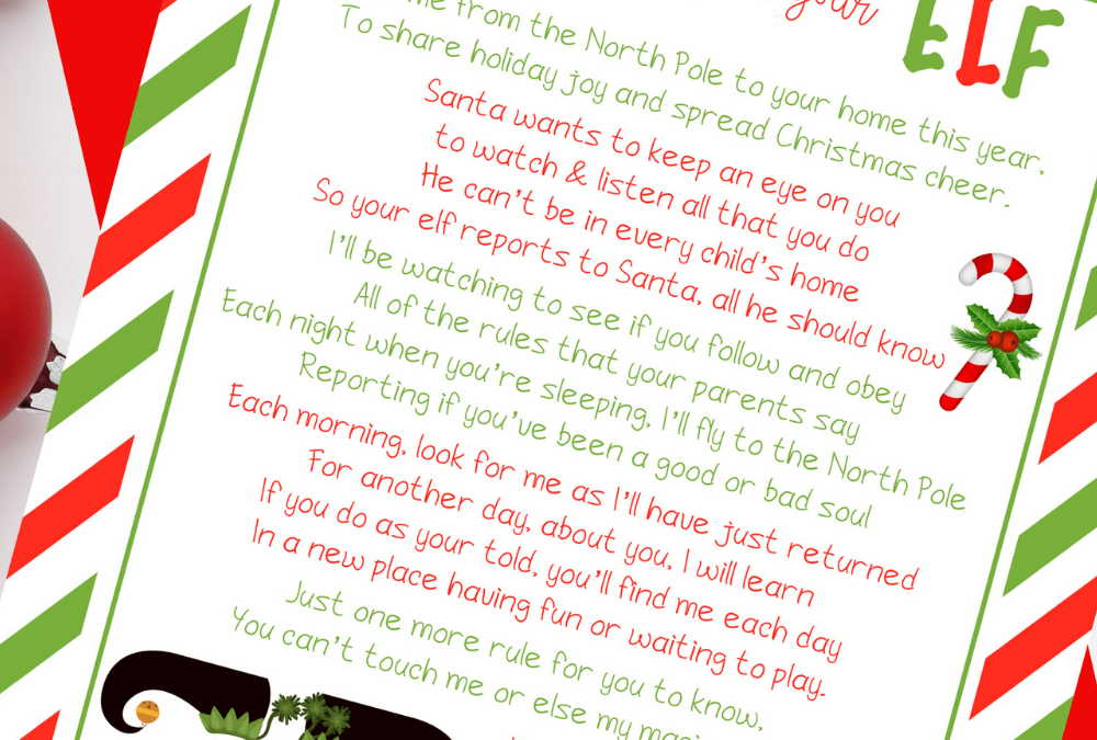 Free Elf on the Shelf Welcome Letter Printable and Ideas for a North Pole Breakfast