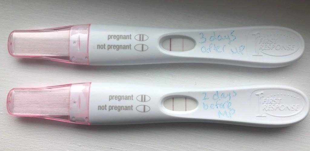 early pregnancy test positive faint line