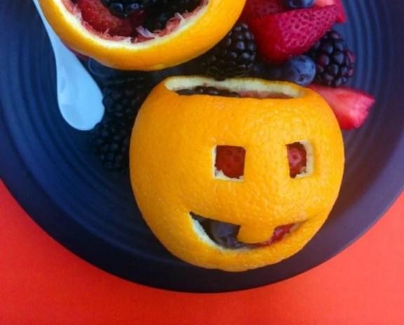 healthy halloween snack fruit