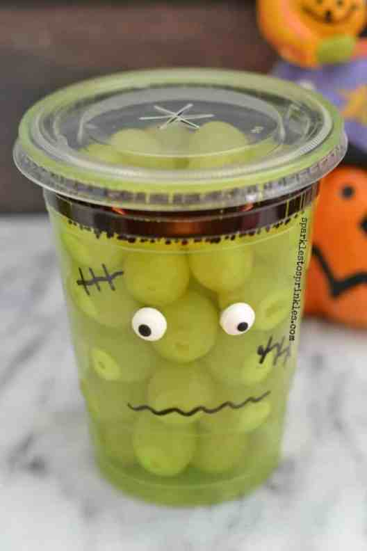 healthy halloween snack with grapes