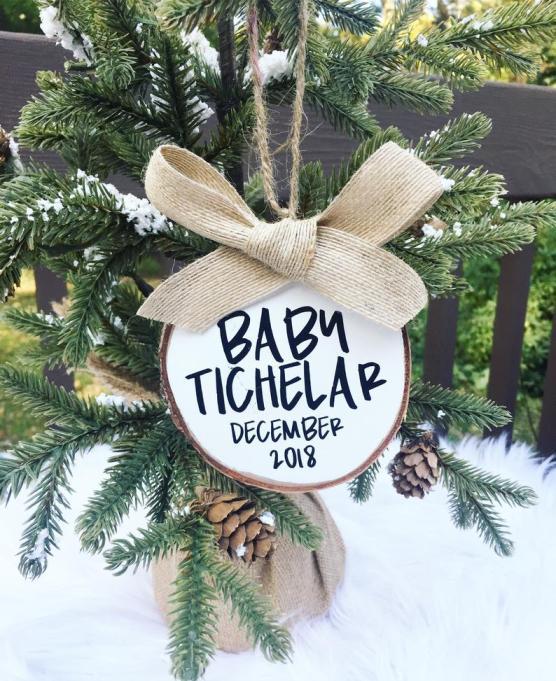christmas pregnancy announcement ornament