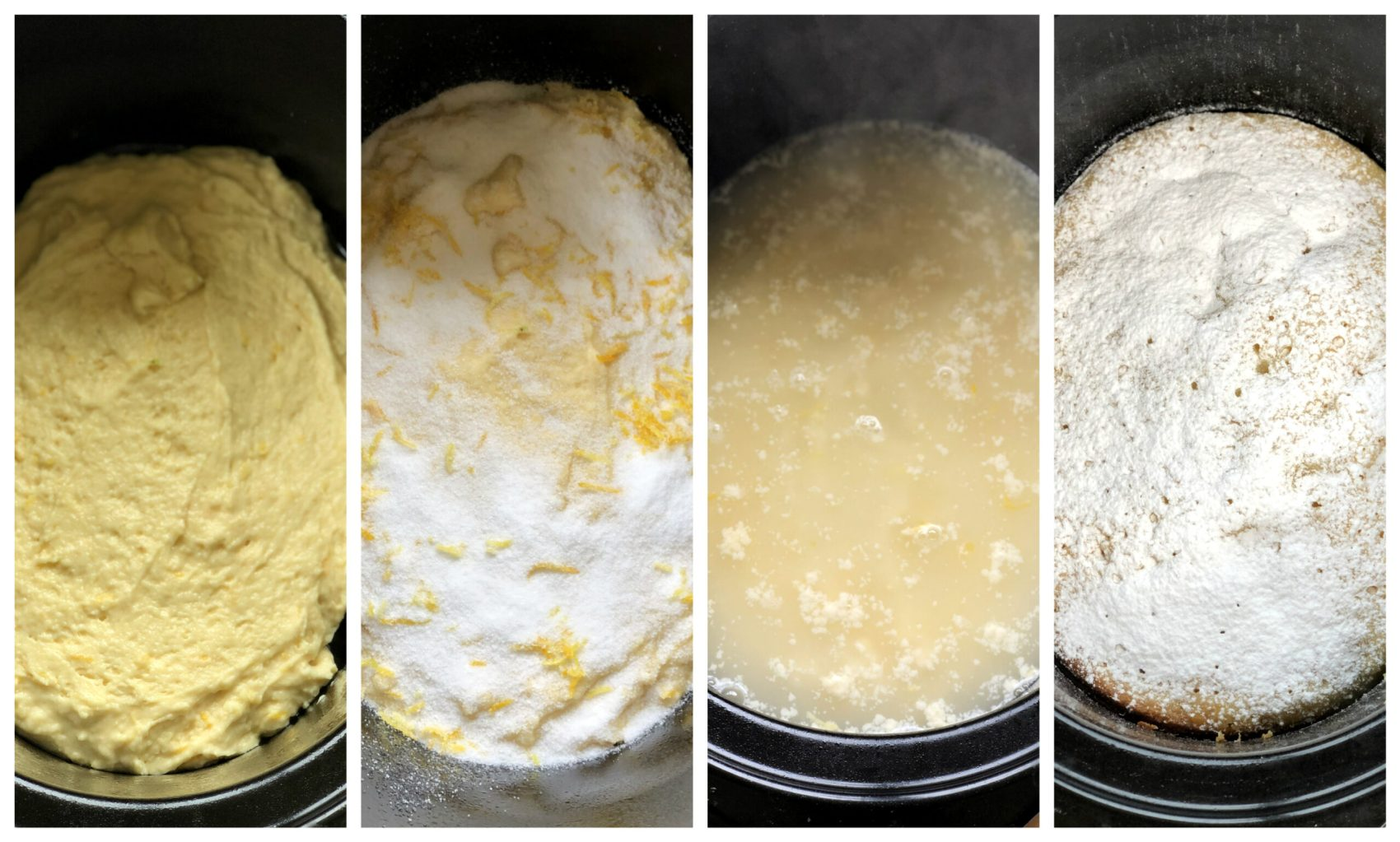 4 steps for how to make slow cooker self saucing pudding