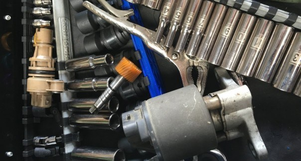 Image of tools and automotive parts