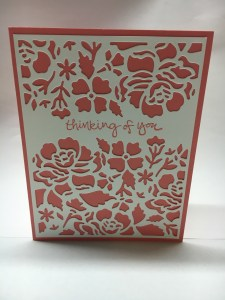 Stampin Up Detailed Floral Thinlits and Floral Phrases Stamp Set thinking of you card idea - Jeanie Stark StampinUp