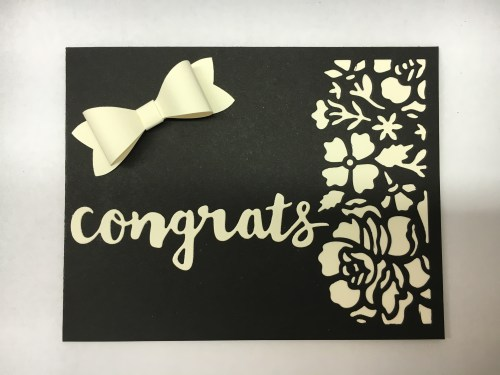 Detailed Floral and Sunshine Wishes Thinlits congratulations wedding card idea - Jeanie Stark StampinUp