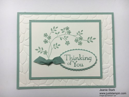 Stampin Up Thoughts & Prayers Thinking of You card idea - Jeanie Stark StampinUp