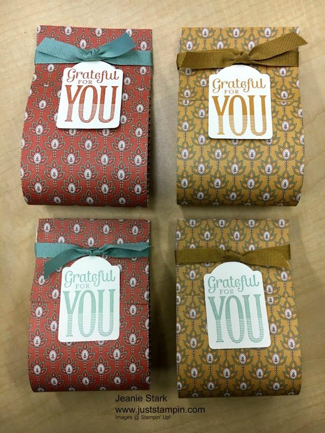 Stampin Up Petals & Posies Designer Series Paper Thanksgiving favors - Jeanie Stark StampinUp