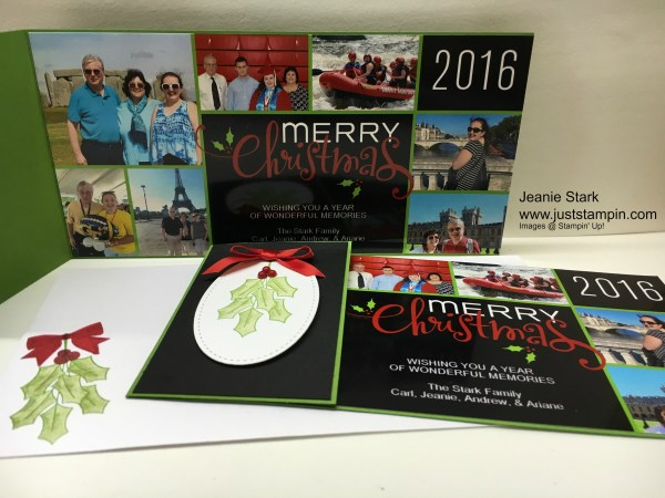 Stampin Up Holly Berry Happiness Christmas card idea - Jeanie Stark StampinUp - For directions and ordering visit www.juststampin.com