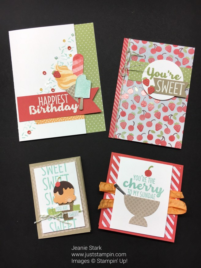 Stampin Up Cool Treats card class - Jeanie Stark StampinUp