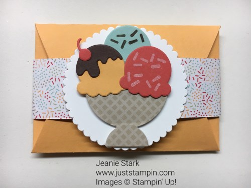 Stampin Up Cool Treats Gift Card Holder idea - Jeanie Stark StampinUp
