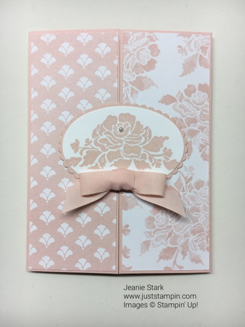 Stampin Up Fresh Florals Gate Fold baby card idea - Jeanie Stark StampinUp