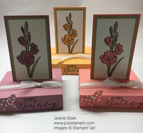 Stampin Up Gift Of Love Pop Up Fun Fold Happy Birthday Card idea. For directions and supplies visit www.juststampin.com