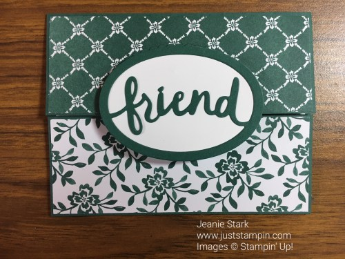 Stampin Up Lovely Words Thinlits friend card idea - Jeanie Stark StampinUp