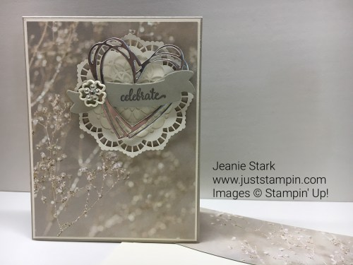 Stampin Up So In Love Stamp Set and Sunshine Wishes Thinlits wedding card idea - Jeanie Stark StampinUp