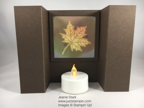Stampin Up Painted Autumn Fall/Thanksgiving fun fold card idea - Jeanie Stark StampinUp