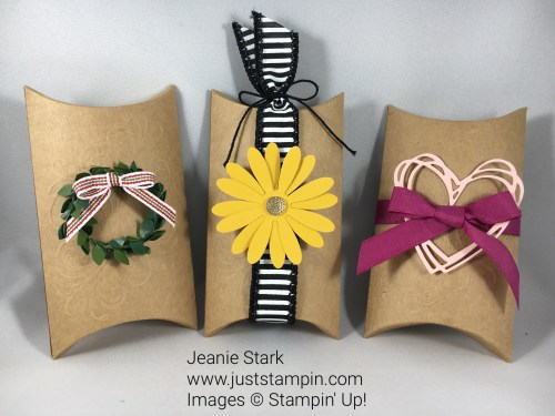 Paper Pumpkin Layered Leaves Alternative Pillow Box Idea - Jeanie Stark StampinUp