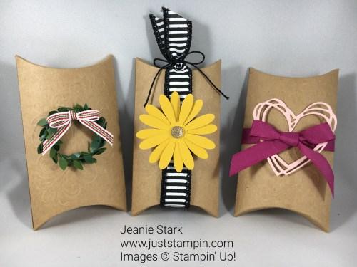 Paper Pumpkin Layered Leaves Alternative Pillow Box Idea - Jeanie Stark StampinUp