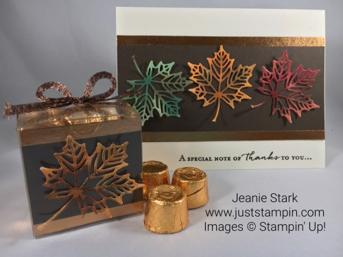 Stampin Up Seasonal Layers Fall Card and Candy Treat Idea - Jeanie Stark StampinUp
