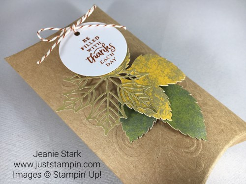 Stampin Up Paper Pumpkin Thanksgiving Table Favor idea - Jeanie Stark StampinUp