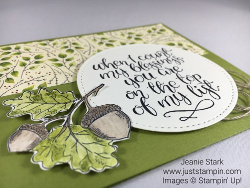 Stampin Up Count My Blessings Thanksgiving card Idea - Jeanie Stark StampinUp