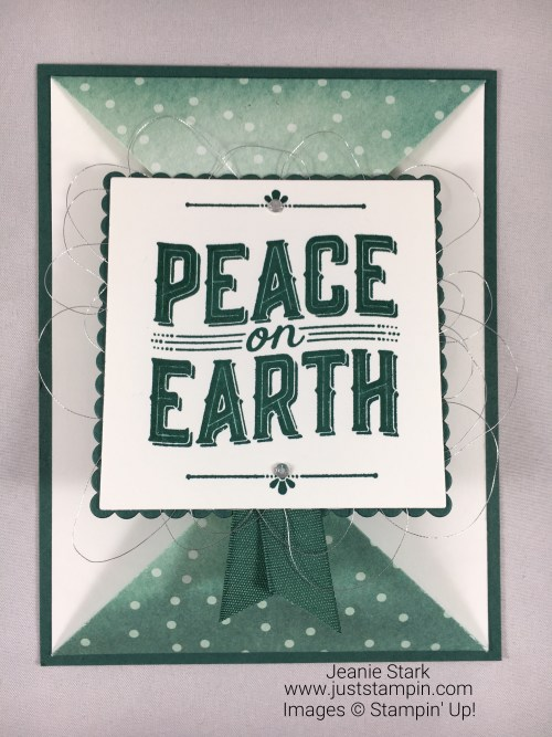 Stampin Up Carols of Christmas fun fold Christmas card idea - Jeanie Stark StampinUp