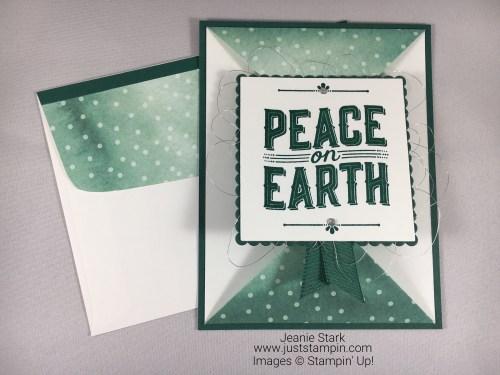 Stampin Up Carols of Christmas fun fold Christmas card idea - Jeanie Stark StampinUp