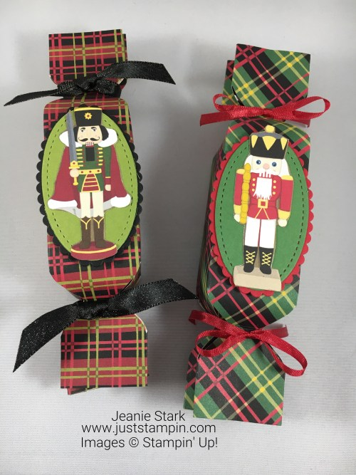 Stampin Up Christmas Around the World nutcracker treat holder idea made using the Envelope Punch Board - Jeanie Stark StampinUp