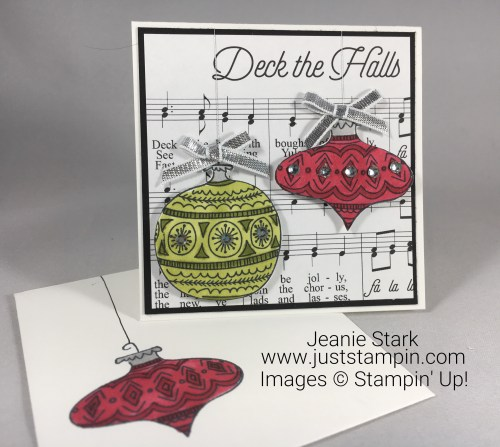 Stampin Up Seasons of Whimsy gift enclosure card idea colored with Stampin Blends - Jeanie Stark StampinUp