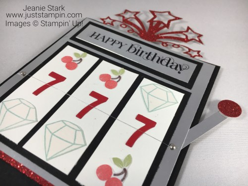 Stampin Up Simply Socred slot machine birthday card idea - Jeanie Stark StampinUp
