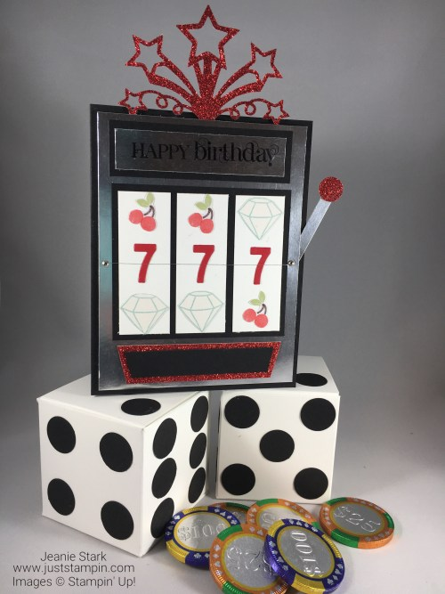 Stampin Up Casino Birthday Gift Set idea - Jeanie Stark StampinUp