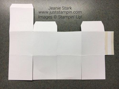 Visual for Cube Box made with Stampin Up Simply Scored tool - Jeanie Stark StampinUp
