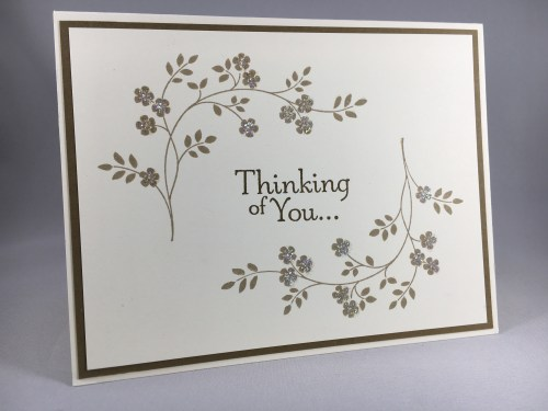Stampin Up Thoughts & Prayers Sympathy card idea - www.juststampin.com