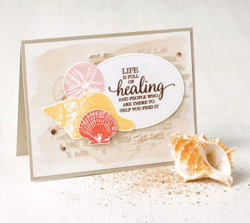 Stampin Up So Many Shells Stamp Set. For card inspiration and supplies visit www.juststampin.com