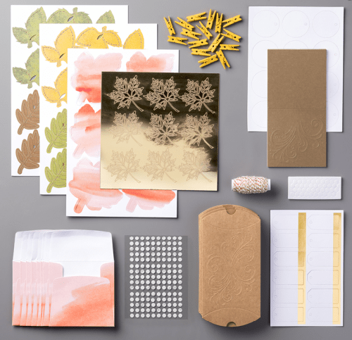 Stampin Up Layered Leaves Paper Pumpkin Refill Kit - Jeanie Stark StampinUp