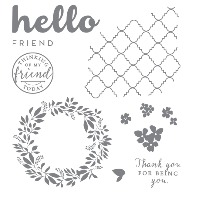 Stampin Up Hello Friend Stamp Set