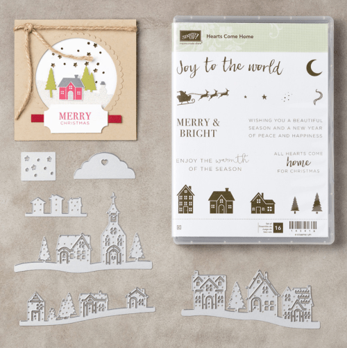 Stampin Up Hearts Come Home Bundle and Holiday card idea - Jeanie Stark StampinUp