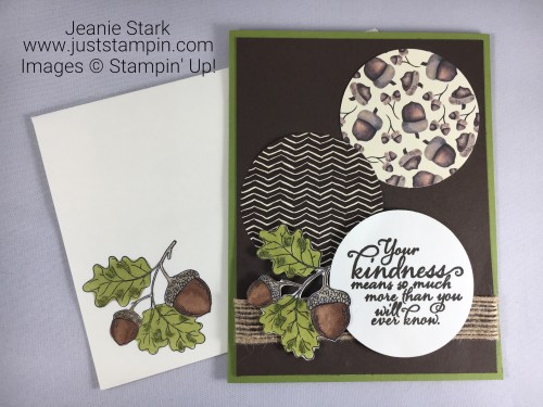 Stampin Up Painted Harvest Thank You card idea - Jeanie Stark StampinUp