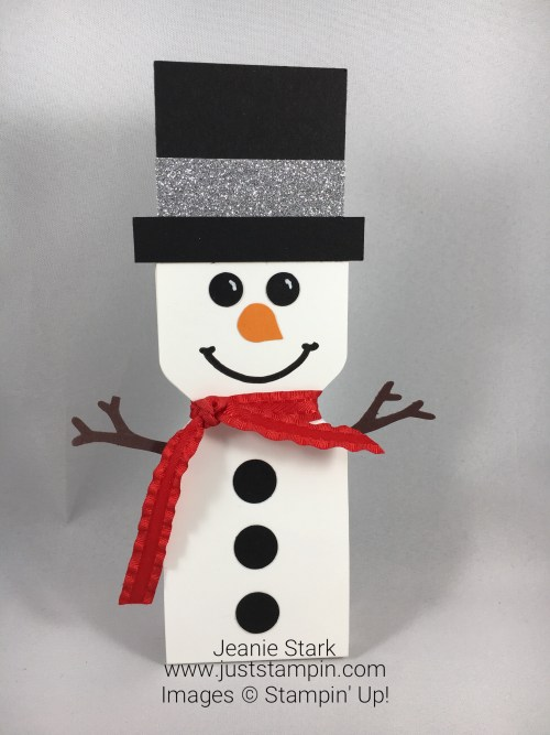 Stampin Up Envelope Punch Board Snowman Treat Holder idea - Jeanie Stark StampinUp