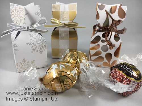 Stampin Up Year of Cheer Lindt chocolate treat holder idea - Jeanie Stark StampinUp