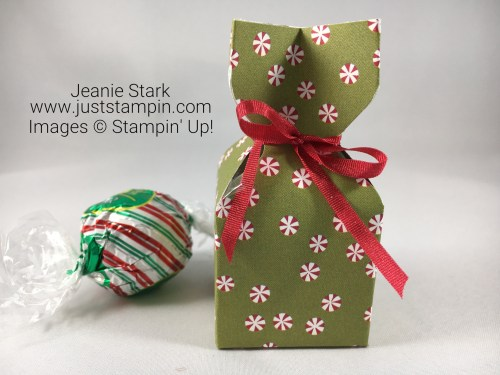 Stampin Up Be Merry Lindt chocolate treat holder idea - Jeanie Stark StampinUp