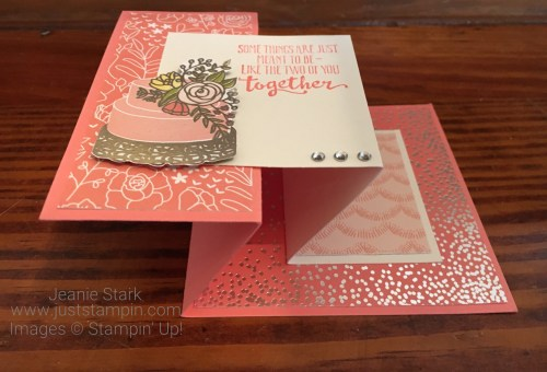 Stampin Up Petal Palette and Sweet Soiree fun fold wedding card idea - Jeanie Stark StampinUp