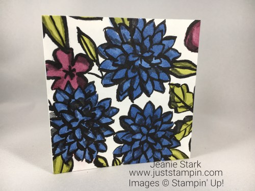 Stampin Up Petal Passion 3 x 3 card idea - Jeanie Stark StampinUp