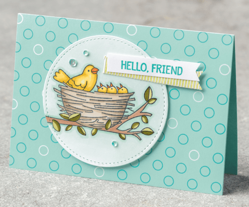 Stampin Up Flying Home card idea for a friend - For inspiration and ordering visit my website juststampin.com - Jeanie Stark StampinUp