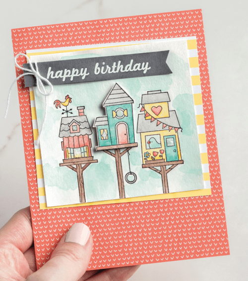 Stampin Up Flying Home birthday card idea - For inspiration and ordering visit my website juststampin.com - Jeanie Stark StampinUp