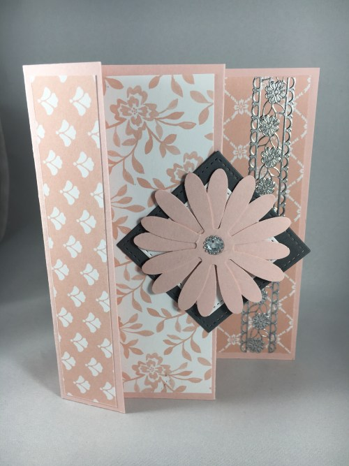 Stampin Up Delightful Daisy Fun Fold card idea - for inspiration, project details, and ordering Stampin' Up! products visit www.juststampin.com Jeanie Stark StampinUp