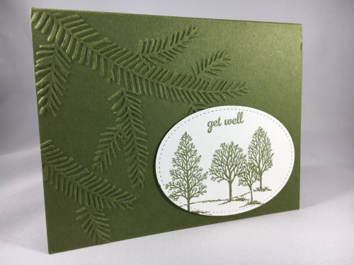 Stampin Up Lovely as A Tree get well card idea - For inspiration, project details, ordering, and more visit www.juststampin.com Jeanie Stark StampinUp