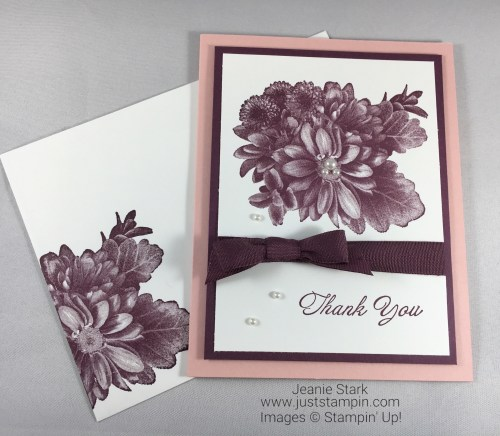 Stampin Up Heartfelt Blooms Thank You card idea - Jeanie Stark StampinUp