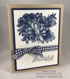 Stampin Up Heartfelt Blooms Sympathy card idea - Jeanie Stark StampinUp